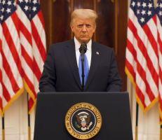 ترامب يتباهى في خطاب الوداع بأنه أول رئيس منذ عقود لم يخض حرباً جديدة ويدعو للصلاة لنجاح بايدن (فيديو)