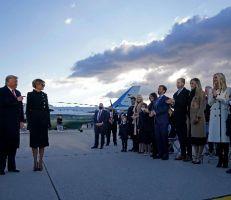 ترامب يغادر البيت الأبيض ويقول: سأعود بطريقة أو بأخرى (صور)