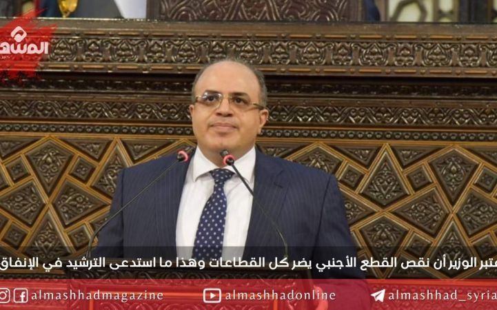 وزير الاقتصاد أمام مجلس الشعب: فاتورة الاستيراد انخفضت بنسبة 12 % خلال هذا العام